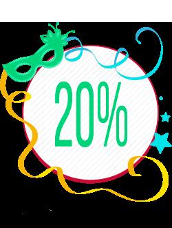 Primeiro Banner Seleção de Produtos com 20% de Desconto