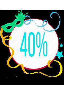 Terceiro Banner Seleção de Produtos com 40% de Desconto