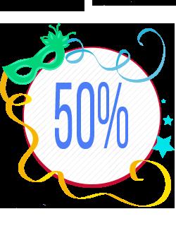 Quarto Banner Seleção de Produtos com 50% de Desconto