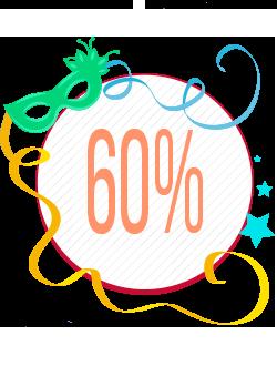 Quinto Banner Seleção de Produtos com 60% de Desconto