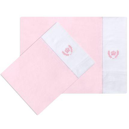 KFM0001-206-Enxoval-Maternidade-Bebe-Menina-Kit-Duas-Fronhas-Malha-Classic-for-Baby
