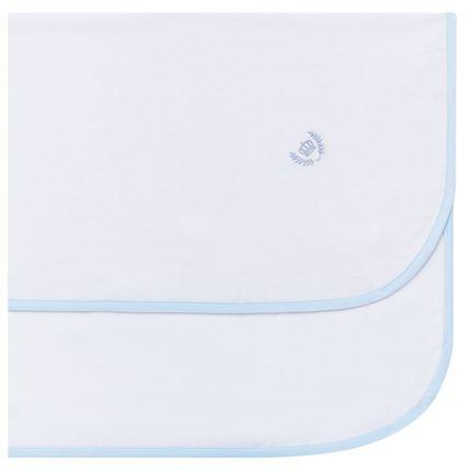 Cueiro para bebe em flanela Coroinha Azul - Classic for Baby