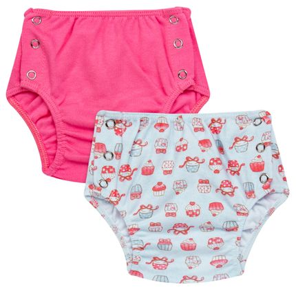 Pack: 02 Cobre Fraldas para bebe em suedine Cupcakes - Vicky Baby