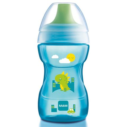 MAM4243-A-Copo-de-Treinamento-Learn-to-Drink--270ml--Boys--8m---Baby-Dino