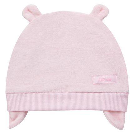 Moda-bebe-menina-acessorios-gorro-touca-plsh-rosa-Tilly-Baby