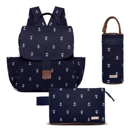 KIT-5-NAVY-MCN9043-PMN9043-FN9043-kit-de-bolsas-maternidade-mochila-porta-mamadeira-necessaire-navy-marinho-classic-for-baby-bags