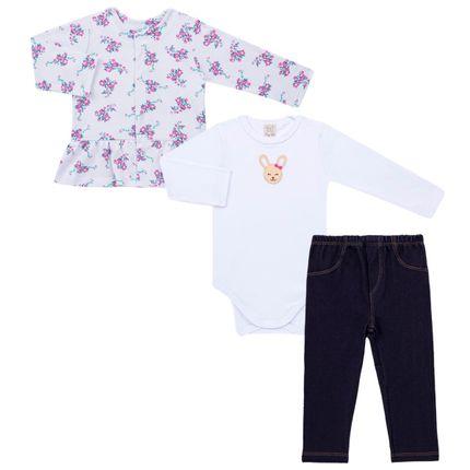 PL65692-1_A-moda-bebe-menina-conjunto-casaco-body-longo-calca-jeans-florzinhas-Pingo-Lele