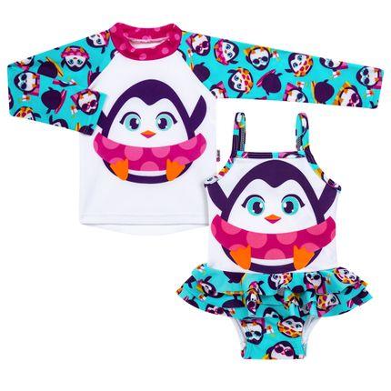 KIT-PK-PINGUIM-tam-BB-moda-praia-bebe-menina-camiseta-surfista-maio-puket