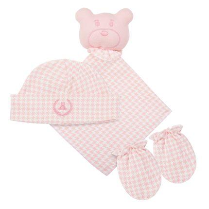 CQ17045-83_A-enxoval-e-maternidade-bebe-menina-kit-touca-luva-naninha-pied-poule-pink-Coquelicot
