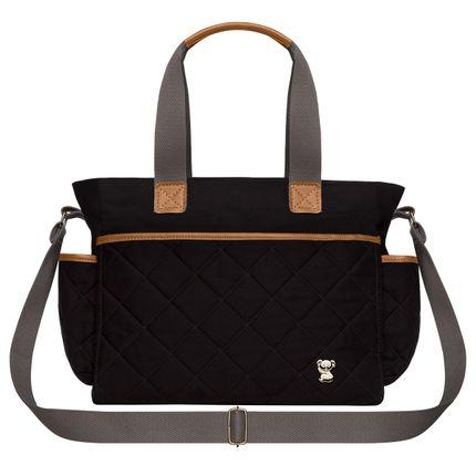 BHM9045-Bolsa-Maternidade-Casual-Sarja-Preto---Classic-for-Baby-Bags