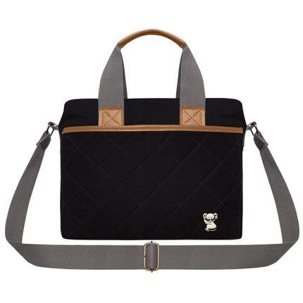 FTHP9045-Bolsa-Maternidade-Frasqueira-Casual-Sarja-Preto---Classic-for-Baby-Bags