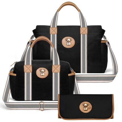BSA9045-FSGC9045-TCSA9045--id-54013-Bolsas-Maternidade-Kit-Adventure-Sarja-Preto---Classic-for-Baby-Bags