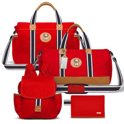MA9042-BSA9042-MCA9042-FA9042--id-71869--Bolsas-Maternidade-Kit-Adventure-Sarja-Vermelho---Classic-for-Baby-Bags