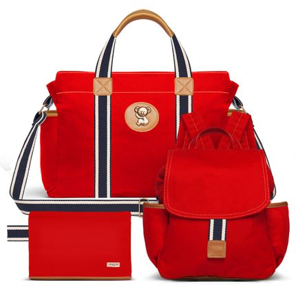 BSA9042-MCA9042-FA9042--id-71870--Bolsas-Maternidade-Kit-Adventure-Sarja-Vermelho---Classic-for-Baby-Bags