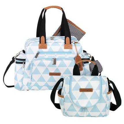 MB12MAN299.04 + MB12MAN238.04 Bolsa Maternidade Kit 2 peças Manhattan Azul - Masterbag