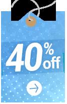 40 % OFF