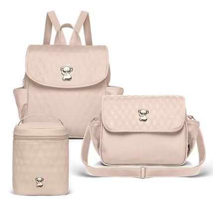 MK9029-FNK9029-FTFK9029-Bolsa-Maternidade-Kit-3-Pecas-Golden-Koala-Bege--Classic-for-Baby-Bags