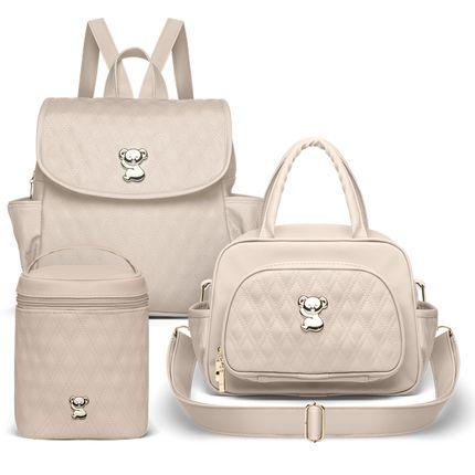 MK9029-MIK9029-FTFK9029--Bolsa-Maternidade-Kit-3-Pecas-Golden-Koala-Bege--Classic-for-Baby-Bags