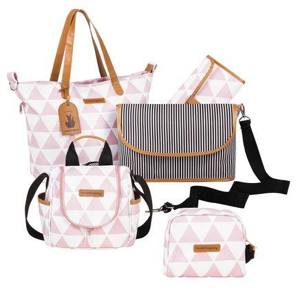 MB12MAN398.03---MB12MAN238.03---MB12MAN269.03-Bolsa-Maternidade-Manhattan-Rosa--Kit-3-pecas---Masterbag