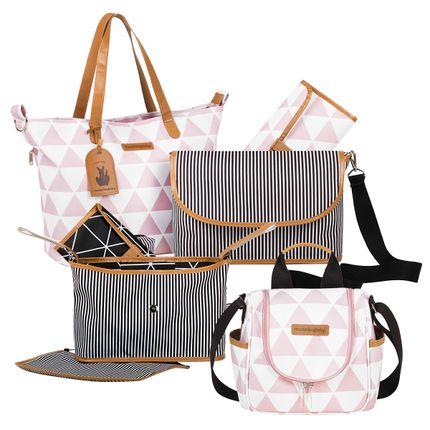 MB12MAN398.03---MB12MAN238.03---MB12MAN601.02-Bolsa-Maternidade-Manhattan-Rosa-Kit-3-pecas---Masterbag-