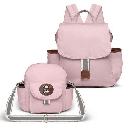 KIT-2-ADVENTURE-MCA9024-FTTA9024-kit-bolsas-maternidade-mochila-frasqueira-adventure-rosa-classic-for-baby-bags