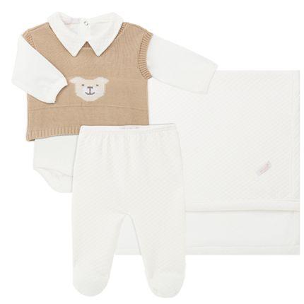 19240003389_A-maternidade-moda-saida-maternidade-bebe-menino-body-longo-mijao-colete-manta-ursinho-Roana