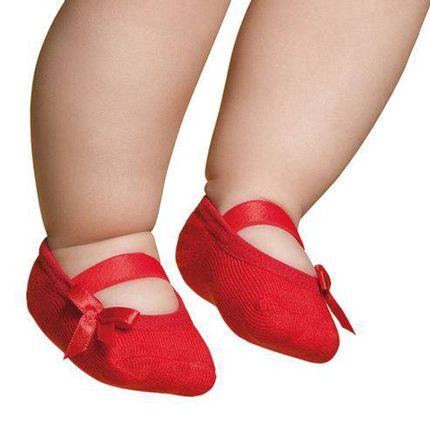 PK7039L-VM-A-moda-bebe-menina-meia-sapatilha-laco-vermelho-Puket