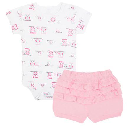 18766012_A-moda-bebe-menina-conjunto-body-curto-shorts-em-algodao-egipcio-corujinhas-VK-baby-no-Bebefacil-loja-de-roupas-e-enxoval-para-bebes
