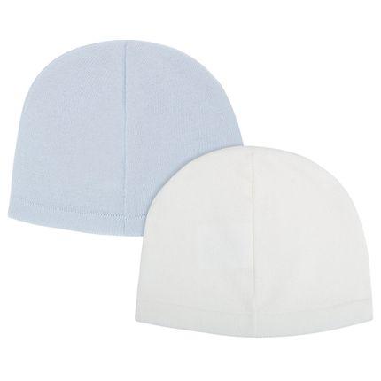 10304566_A-moda-bebe-menino-acessorios-kit-2-toucas-em-tricot-branca-azul-Petit-no-Bebefacil-loja-de-roupas-e-acessorios-para-bebes
