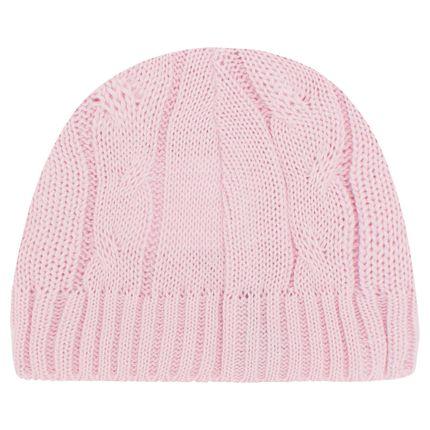 46194573_A-moda-bebe-touca-em-tricot-trancado-rosa-Mini-Sailor-no-Bebefacil-loja-de-roupas-acessorios-e-enxoval-para-bebes