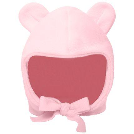 PL65799.RS-moda-bebe-menina-acessorios-touca-orelhinha-em-soft-rosa-Pingo-Lele-no-Bebefacil-loja-de-roupas-e-enxoval-para-bebes