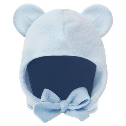 PL65799.AZ-moda-bebe-menino-acessorios-touca-orelhinha-em-soft-azul-Pingo-Lele-no-Bebefacil-loja-de-roupas-e-enxoval-para-bebes