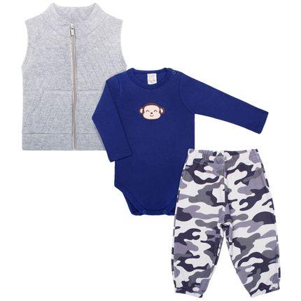 PL65981M_A-moda-bebe-menino-conjunto-colete-body-longo-calca-camuflada-macaquinho-Pingo-Lele-no-Bebefacil-loja-de-roupas-e-enxoval-para-bebes