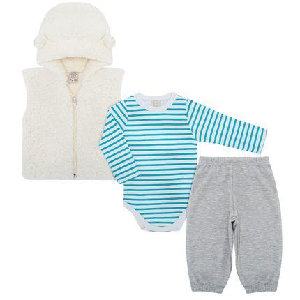 PL65986_A-moda-bebe-menino-conjunto-colete-capuz-pelo-body-longo-calca-mescla-Pingo-Lele-no-Bebefacil-loja-de-roupas-e-enxoval-para-bebes