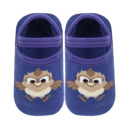 LK043.330_A-moda-bebe-menino-menina-meia-sapatilha-azul-coruja-Leke-no-Bebefacil-loja-de-roupas-e-enxoval-para-bebes
