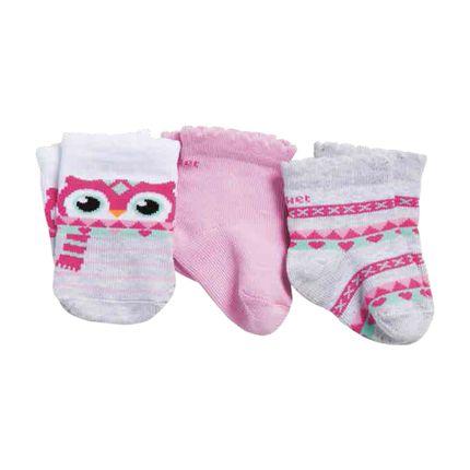 PK6963-CJ-moda-bebe-menina-acessorios-tripack-meia-coruja-puket-no-Bebefacil-loja-de-roupas-enxoval-acessorios-para-bebes