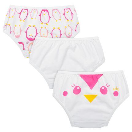 KC3614_A-moda-infantil-kit-3-calcinhas-em-malha-pinguinha-cara-de-crianca-no-bebefacil-loja-de-roupas-enxoval-e-acessorios-para-bebes