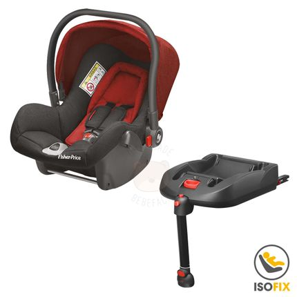 BB566-BB569-A-Bebe-Conforto-Vermelho-com-Base-ISOFIX-Heritage-Fix-0-13-Kg---Fisher-Price