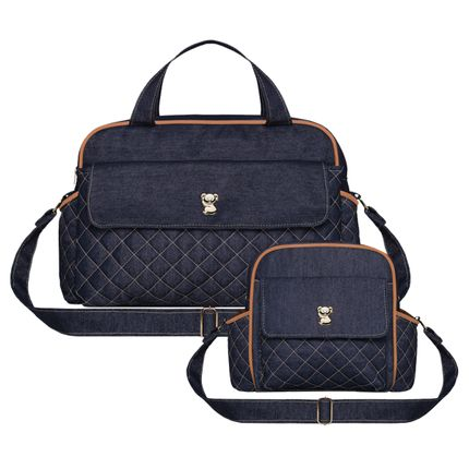 WKIT-4-9091-A-Bolsa-Maternidade-Karen-M---Karen-P-Classic-Fit-Denim-Camurca---Classic-for-Baby-Bags