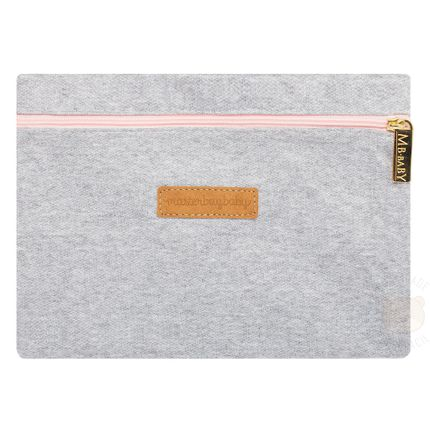 MB11MOL001.18-A-bolsa-maternidade-bebe-menina-mini-bolsa-cinza-rosa--masterbag-no-bebefacil-loja-de-roupas-enxoval-eacessorios-para-bebes