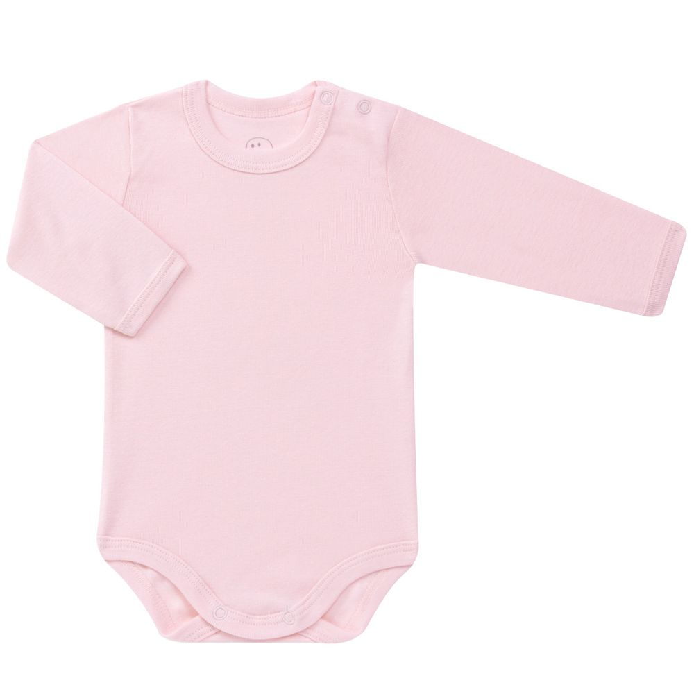 Body longo para bebe em algodão Rosa - Dedeka - bebefacil d153f64c21e34