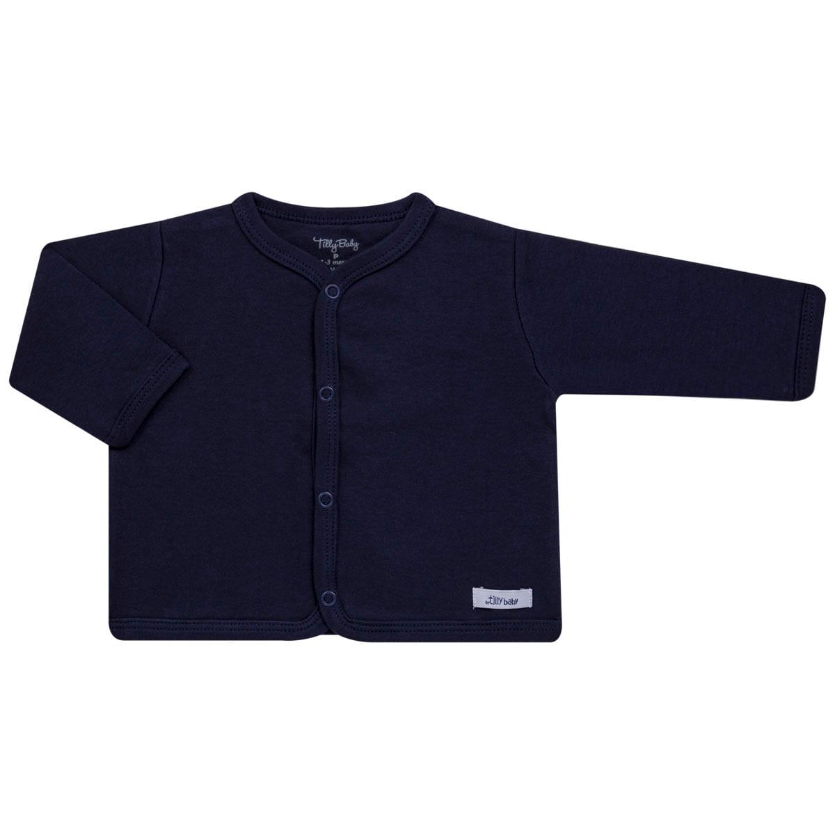 872c6caf1c Casaco para bebe em suedine Marinho Tilly Baby no Bebefacil a sua loja de  roupas e enxoval para bebês - bebefacil