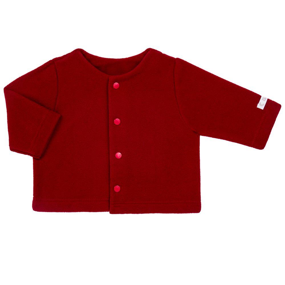 Casaco para bebe em microsoft Vermelho Bibe no Bebefacil a sua loja online  de roupas enxoval e acessorios para bebes - bebefacil 81b85869e4f