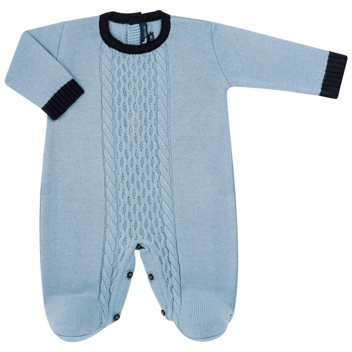 f4c1f0f9cff15b Macacão longo em tricot Louis Mini Sailor no Bebefacil, onde você ...