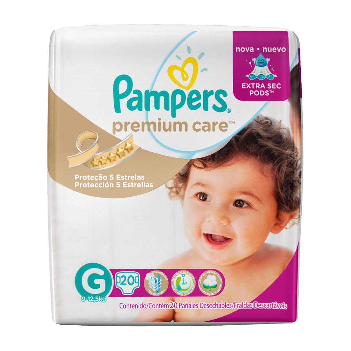 fde9c036a Fralda Pampers Premium Care Tamanho G - 20 unidades