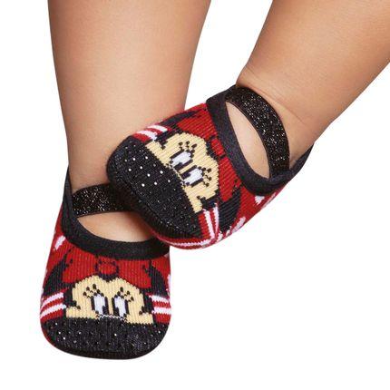 PK3530D-MM-A-moda-bebe-menina-meia-sapatilha-Minnie-Puket
