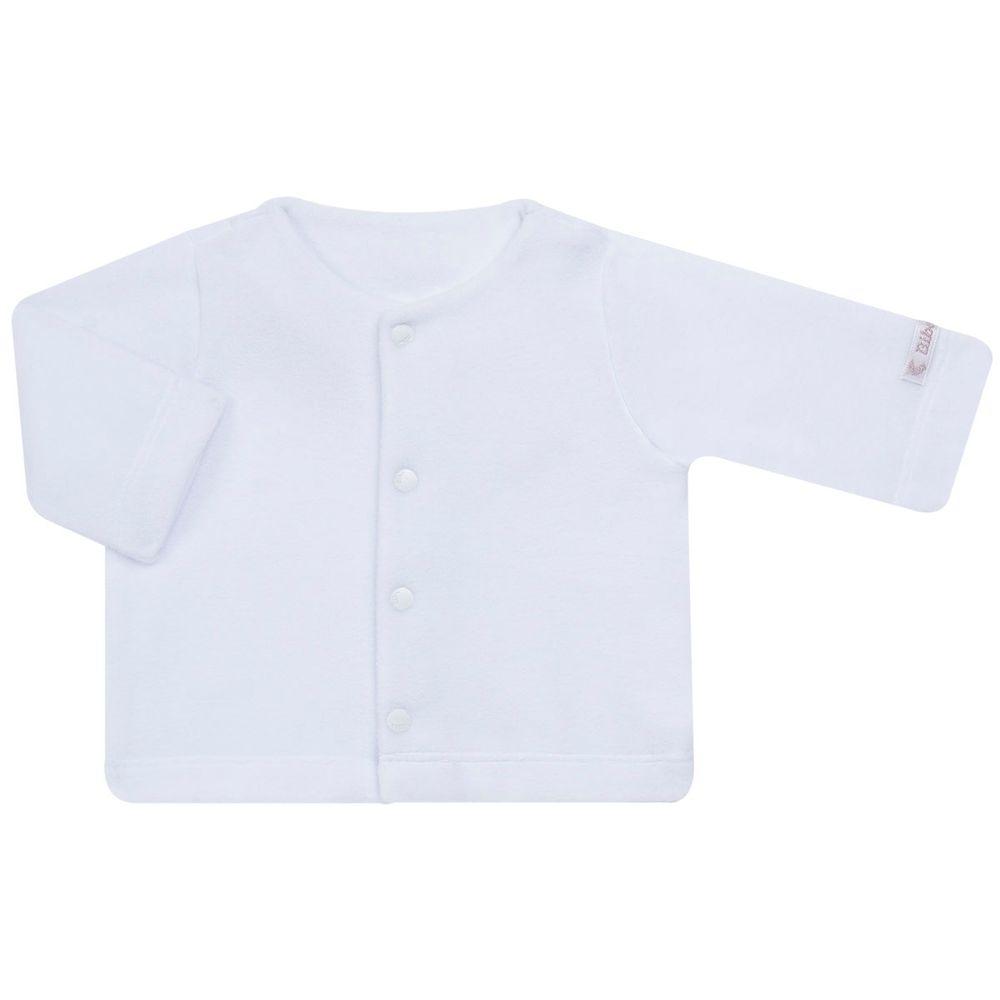 Casaco para bebe em microsoft Branco - Bibe no Bebefacil a sua loja de  roupas e enxoval para bebes - bebefacil 4d401e2da98