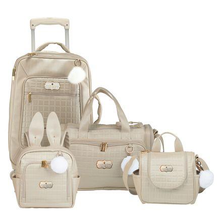 KIT-3-BUN-11BUN404-11BUN210-11BUN238-11BUN309-OURO-kit-bolsas-maternidade-mala-rodizio-frasqueira-mochila-bunny-masterbag