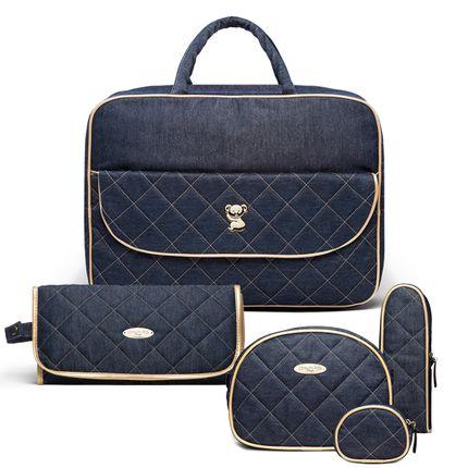 KIT-3-GOLDEN-DENIM-BBJ9046-TCJ9046-KAJ9046-kit-de-bolsas-maternidade-mala-trocador-necessaire-porta-mamadeira-porta-chupeta-golden-denim-classic-for-baby-bags