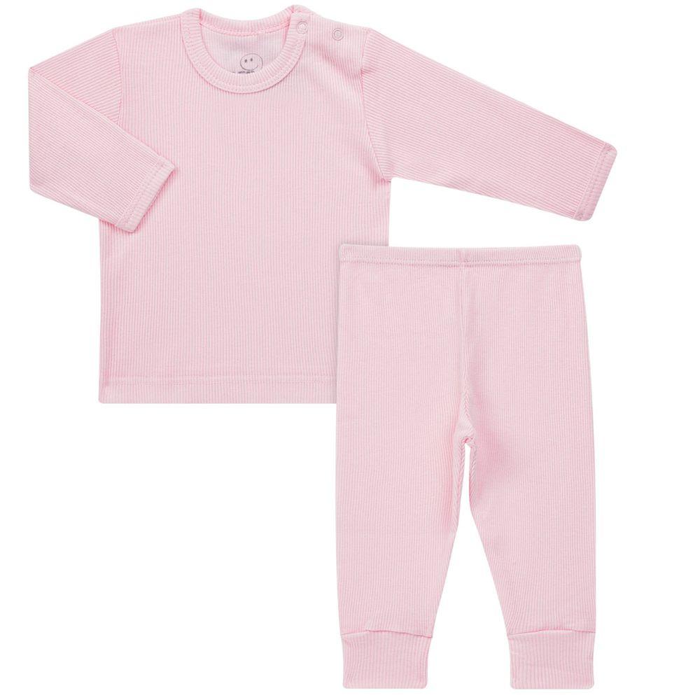 Pijama longo canelado Rosa Dedeka d5d0c2647ff33